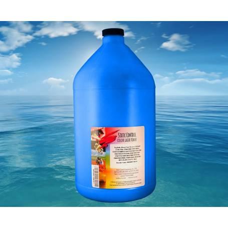 4 recargas en una botella de toner cian brillo 1000 gr. para Oki C810 Oki C830