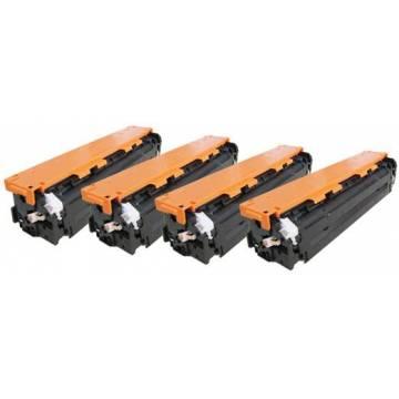 HP 125A tóner amarillo reciclado Hp cp1215 1515n 1518 cm1312 1,4k cb542a Canon 716