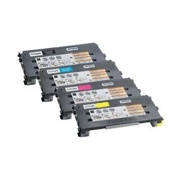 Magenta reciclado para Lexmark Optra color c500n x 500 n x 502 n 504 n.3k