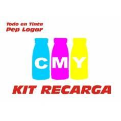 .6 recargas Oki C801 C821 3 botellas CMY 400 g.