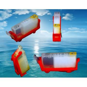 cartucho individual transparente vacio recargable para Canon sin chip