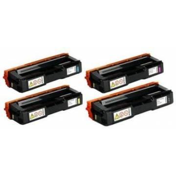 Amarillo compatible Ricoh Aficio sp c252dn c252sf 4k407534