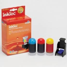 Mini Kit de recarga InkTec cartuchos Canon CL-541 541xl 3 colores. 20ml x 3