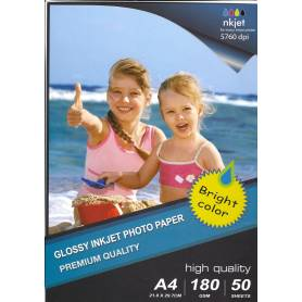 297X210MM A4 High Glossy Inkjet Photo Paper 180g-50 hojas