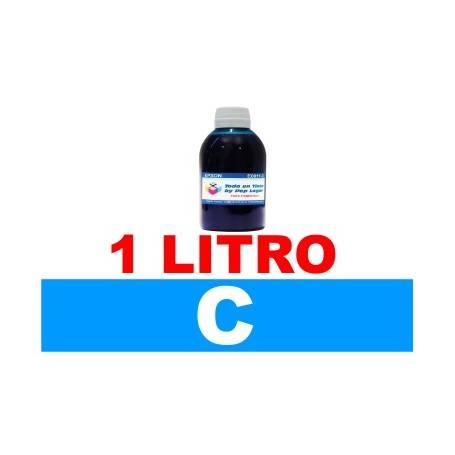 1 L. tinta cian colorante para cartuchos HP