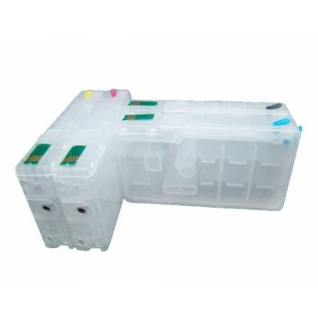 T7011-T7014 Work Force Pro cartuchos recargables transparentes