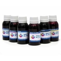 pack de 8 botellas de 250 ml. cada una de tinta pigmentada para plotter Epson K3 N Nc G C M A Cc Mc