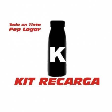 3 botellas de toner de 70 gr. para recarga de cartucho Oki 9002395