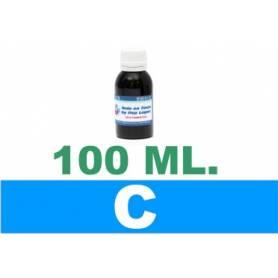 botella de 100 ml. de tinta colorante multiuso para Epson, color cian