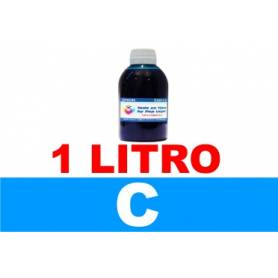 botella de litro de tinta colorante multiuso para Epson, color cian
