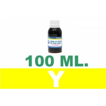 Botella de 100 ml. de tinta colorante multiuso color amarillo
