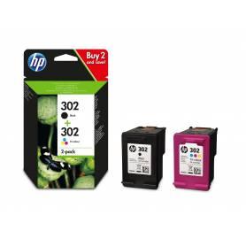 Maxi kit pro para Hp 302 recarga cartuchos tinta negro y color
