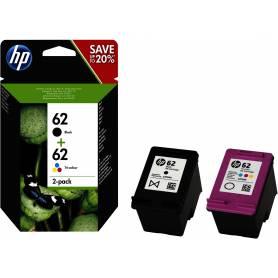 Maxi kit pro para Hp 62 recarga cartuchos tinta negro y color