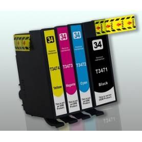 34 XL 12Ml amarillo compatible Workforce WF-3720DWF / WF-3725DWF-0,95K