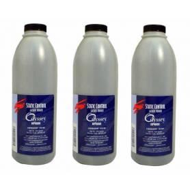 .recargas toner genérico para HP monocromo, tres botellas de 500 g.