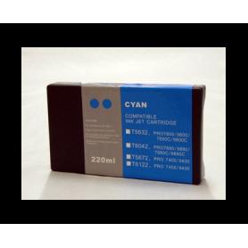 Cian 220ml pigmentada para Epson pro7400 7450 9400 9450 c13t612200