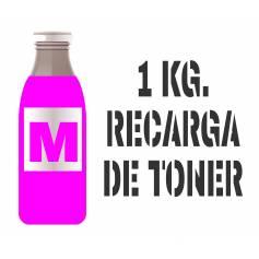 1 kilo Para Samsung color botella tóner magenta