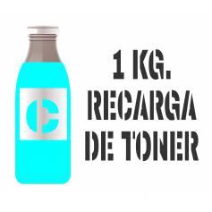 1 kilo Para Samsung color botella tóner cian