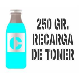 250 gr. Para Samsung color botella tóner cian