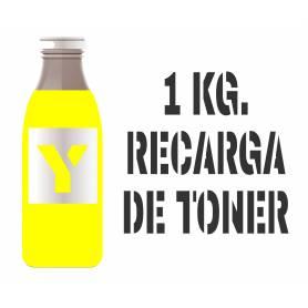 Para Hp color tóner premium para rellenar cartuchos, amarillo 1000 gr.