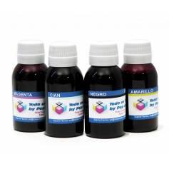 4 botellas 100 ml. de tinta pigmentada y colorante para Epson cmyk