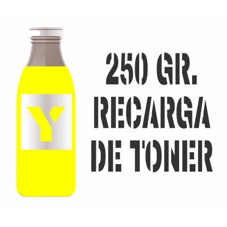 Para Hp color tóner premium para rellenar cartuchos, amarillo 250 gr.