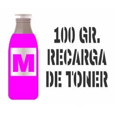 1 botella de 100 gr. de tóner premium magenta brillo para Oki c310 c330 c331 mc361 mc362