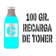 1 botella de tóner 100 gr. cian brillo para Oki c310 c330 c331 mc361 mc362