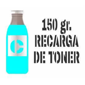 3 recargas de tóner cian brillo 150 gr. para Oki c5600 Oki c5700