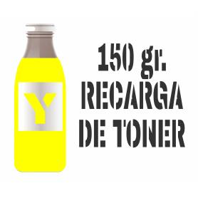 3 recargas de tóner amarillo brillo 150 gr. para Oki c5600 Oki c5700