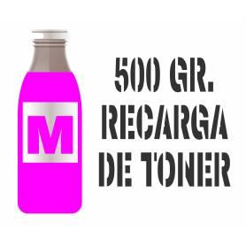 3 recargas de tóner premium magenta brillo 500 gr. para Oki c5550 c5800 c5900