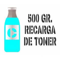 3 recargas de tóner premium cian brillo 500 gr. para Oki c5550 c5800 c5900
