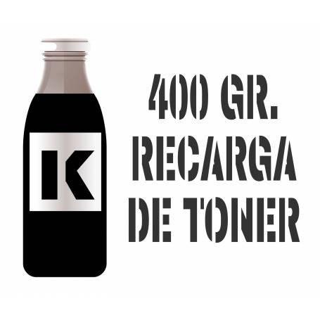 2 recargas de tóner premium negro brillo 400 gr. para Oki c801 para Oki c821