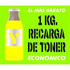 Toner económico HP CANON SAMSUNG amarillo 1 Kg.