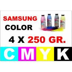 4 x 250 gr. Para Samsung color botellas tóner cmyk
