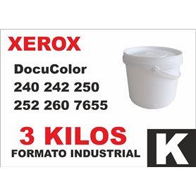 Para Xerox DocuColor 240 242 250 252 260 7655 cubo tóner negro 3 kg