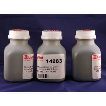 Para Oki mb 460 470 471 480 recargas de tóner 3 botellas + 3 chips