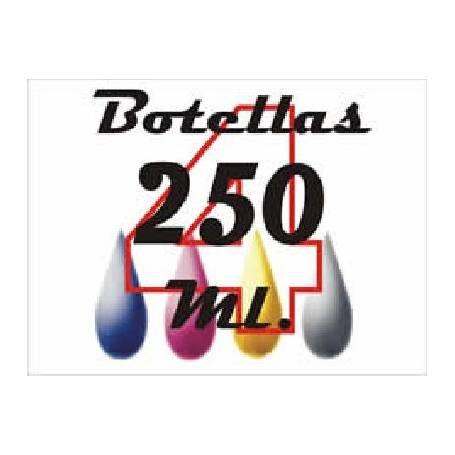 4 botellas 250 ml. tinta colorante para Epson, cmyk