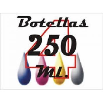 Pack 4 botellas de 250 ml. de tinta para Lexmark bpgcmy