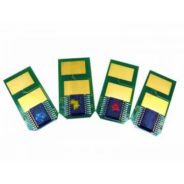 Para Oki c301 c321 mc332 mc342 chip para recarga de tóner amarillo