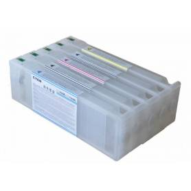 Epson 7700 9700 5 cartuchos recargables de 700 ml.