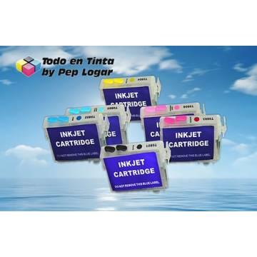 T0791 t0796 6 cartuchos compatibles recargables photo 1500w
