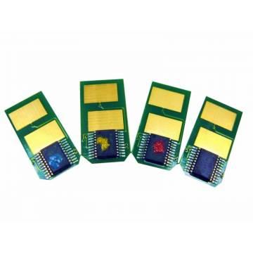 Para Oki es5431 es5462 chip recarga tóner amarillo 6000 copias