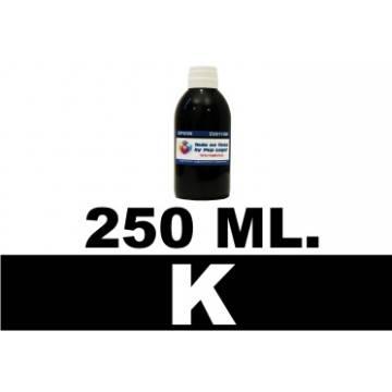 Botella de 250 ml. tinta pigmentada negra multiuso