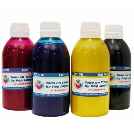3 botellas de 250 ml. tinta pigmentada para Epson CMY