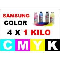 Samsung color toner a granel 4 x 1000 gr. cmyk