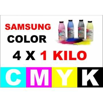 4 x 1 Kgr. Para Samsung color botellas tóner cmyk