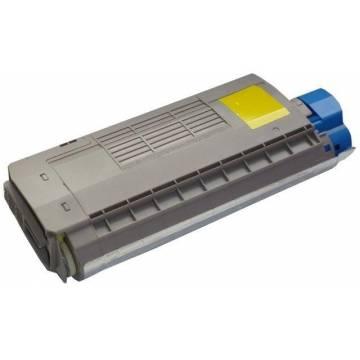 Para Oki es7411 es3032a4 color amarillo cartucho tóner reciclado 11k