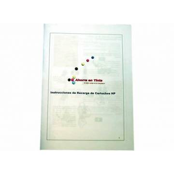 Libros de instrucciones de recarga