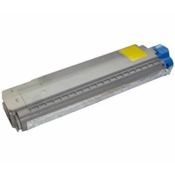 Cartucho tóner reciclado para Oki c801 Oki c821 amarillo 11k